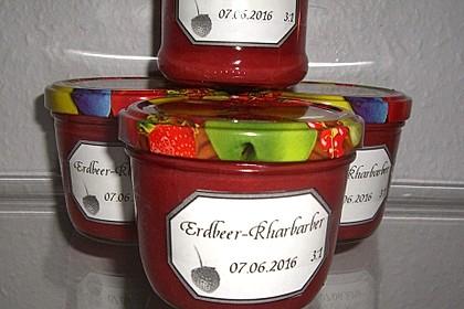 Erdbeer-Rhabarber-Marmelade 1