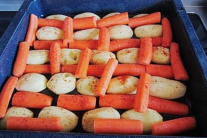Schälrippchen mit Gemüse aus dem Backofen 1