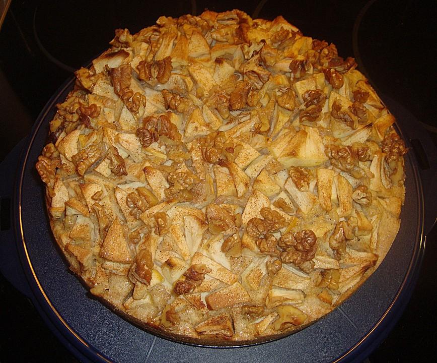 Apfel Walnuss Kuchen Von Cj83 Chefkoch De
