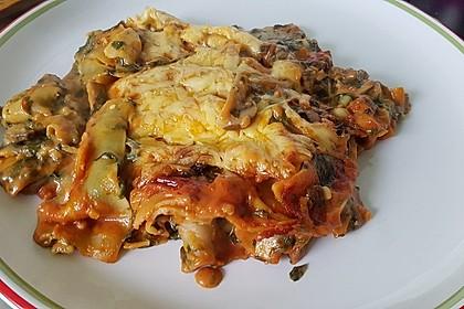 Vegetarische Spinat-Gemüse-Lasagne mit Tomatensoße 17