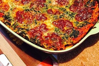 Vegetarische Spinat-Gemüse-Lasagne mit Tomatensoße 2