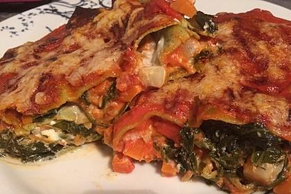 Vegetarische Spinat-Gemüse-Lasagne mit Tomatensoße 5