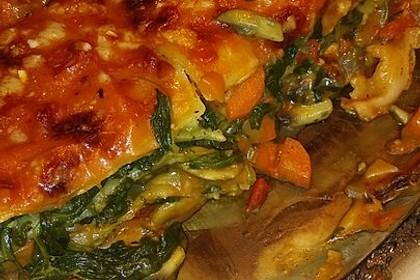Vegetarische Spinat-Gemüse-Lasagne mit Tomatensoße 4