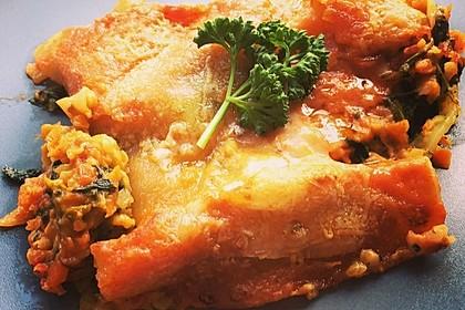 Vegetarische Spinat-Gemüse-Lasagne mit Tomatensoße 9