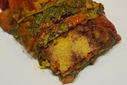 Vegetarische Spinat-Gemüse-Lasagne mit Tomatensoße 10