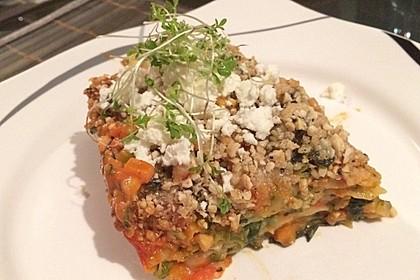 Vegetarische Spinat-Gemüse-Lasagne mit Tomatensoße 6