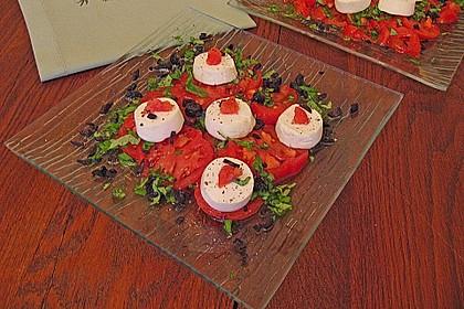 Tomaten-Carpaccio mit gebackenem Ziegenkäse 10