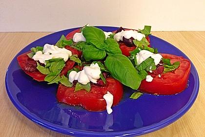 Tomaten-Carpaccio mit gebackenem Ziegenkäse 7