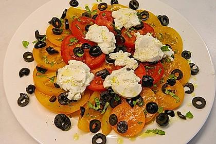 Tomaten-Carpaccio mit gebackenem Ziegenkäse 3