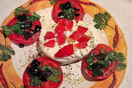 Tomaten-Carpaccio mit gebackenem Ziegenkäse 11