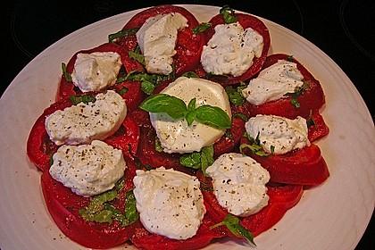 Tomaten-Carpaccio mit gebackenem Ziegenkäse 8
