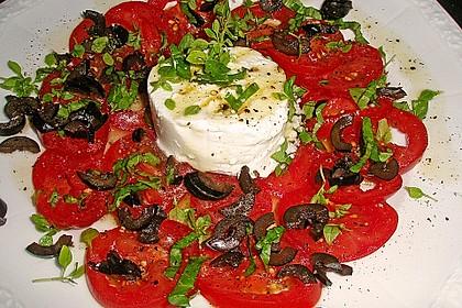 Tomaten-Carpaccio mit gebackenem Ziegenkäse 2