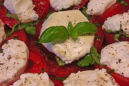 Tomaten-Carpaccio mit gebackenem Ziegenkäse 6