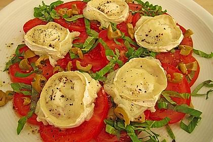 Tomaten-Carpaccio mit gebackenem Ziegenkäse 5