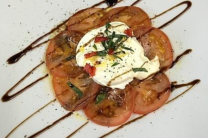Tomaten-Carpaccio mit gebackenem Ziegenkäse 1