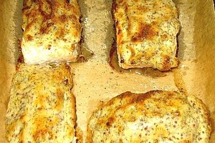 Gebackener Lachs mit Senf-Dill-Guss 21