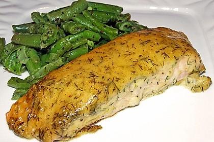 Gebackener Lachs mit Senf-Dill-Guss 2