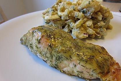 Gebackener Lachs mit Senf-Dill-Guss 14