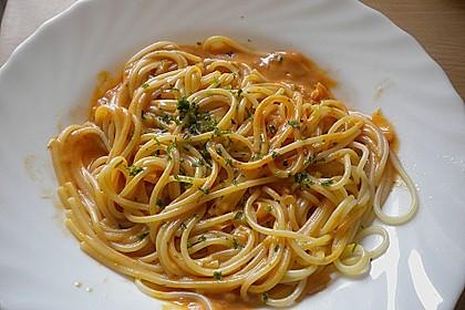 Spaghetti mit Tomaten-Käse Soße 1