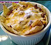 Hack-Tacos mit Käse überbacken (Bild)