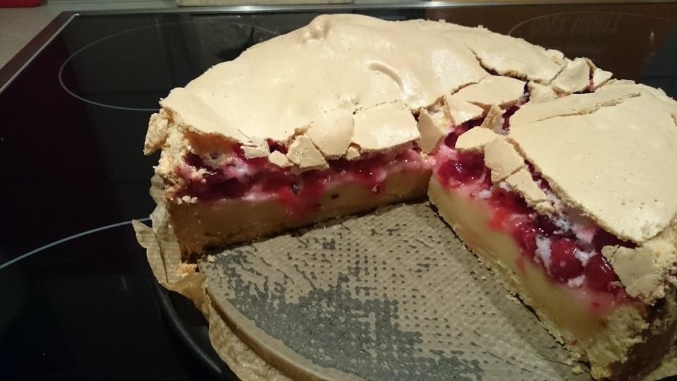 Johannisbeer Pudding Baiser Kuchen Von Youdid91 Chefkoch De