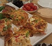 Reis-Erbsen-Frittata (Bild)