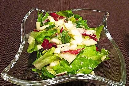 Apfel-Endivien-Salat mit Senfdressing 10