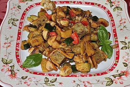 Maultaschen-Gemüsepfanne