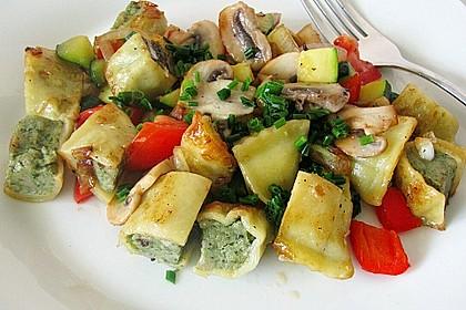 Maultaschen-Gemüsepfanne 1