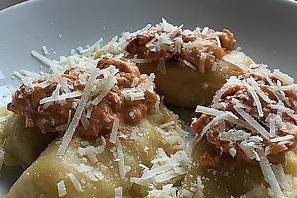 Ravioli, gefüllt mit Ricotta und Ziegenfrischkäse 18