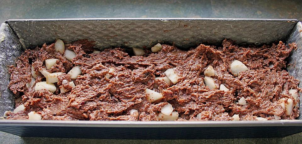 Schokoladen Birnen Kuchen Mit Cranberries Von Rumpel222 Chefkoch De