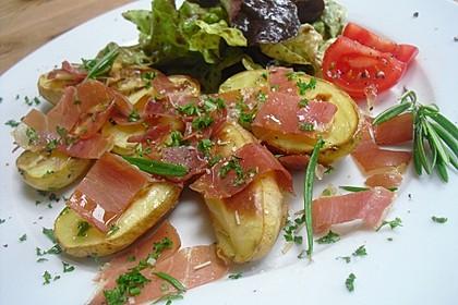 Ofenkartoffeln mit Serranoschinken