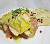 Toast mit Birne und Blauschimmelkäse (Bild)
