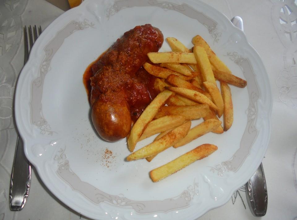 Currywurst Mit Pommes Frites Von Marc21ja Chefkoch