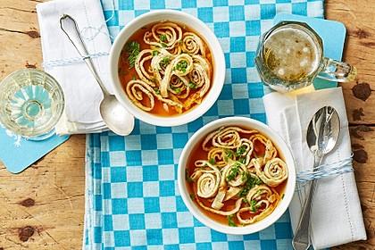 Kräuter-Flädle Suppe 2
