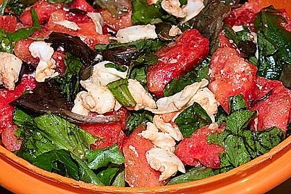 Erfrischender Sommersalat mit Wassermelone und Rucola 5