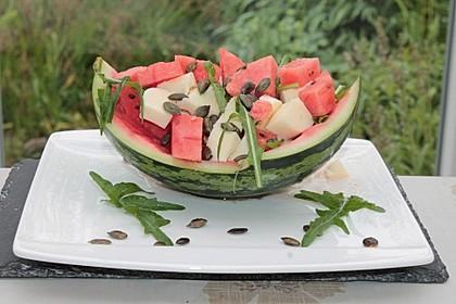 Erfrischender Sommersalat mit Wassermelone und Rucola 1