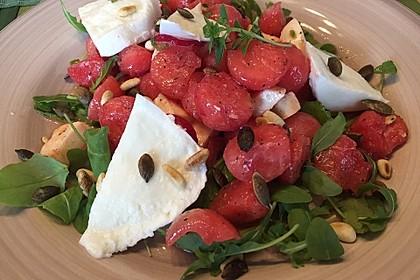 Erfrischender Sommersalat mit Wassermelone und Rucola 2