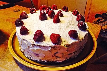 Kokos-Himbeer-Torte 1