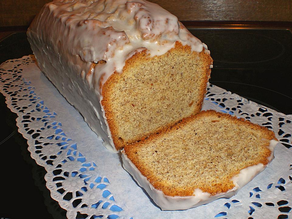 Haselnuss Mandel Kuchen Mit Rum Zuckerguss Von Ela2809 Chefkoch De