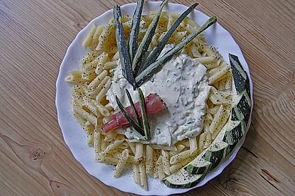 Penne mit Zucchini-Frischkäse-Soße