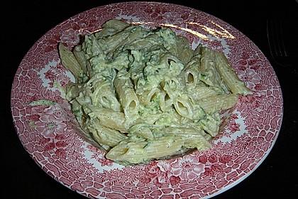 Penne mit Zucchini-Frischkäse-Soße 2