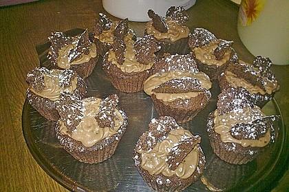 Schokoladige Schmetterlings-Cupcakes 1