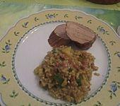Zucchini-Risotto mit Speck (Bild)