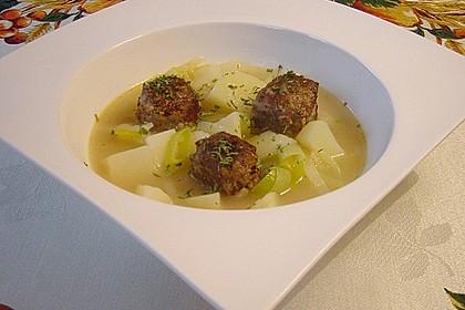 Mein schneller Kartoffel-Lauch-Eintopf mit Hackbällchen 4