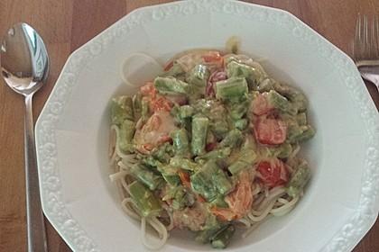 Sehr aromatische Pasta mit grünem Spargel 15
