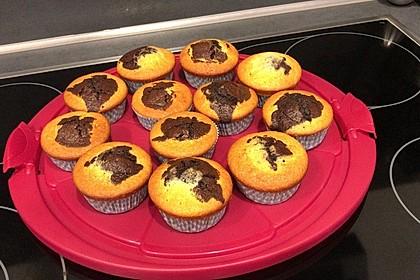 Luftige Marmor-Muffins