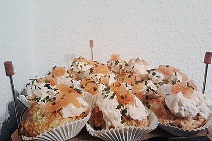 Frühlingszwiebel-Cupcakes mit Räucherlachs-Topping 8
