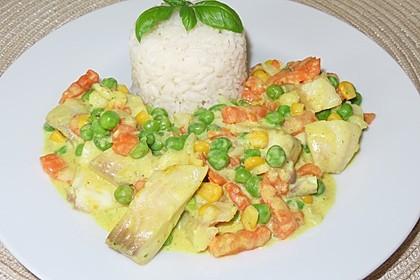 Christels Fischpfanne mit Reis (Bild)