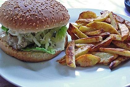 Thunfisch Burger mit Pommes
